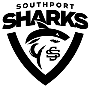 Sharks Logo Shield Black
